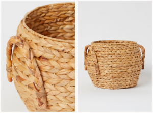 Handmade straw basket